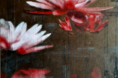 SENSI ARTE, Lotus, il segreto dell'acqua, acrilico su tela, cm 120 x 100, BRLM_14