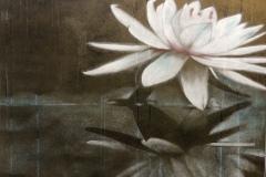 SENSI ARTE, Lotus, i sentimenti dell'acqua, acrilico su tela, cm 100 x 118, BRLM_19