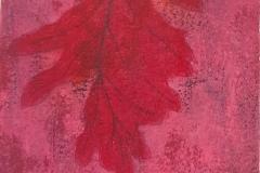 SENSI ARTE, Leaves Effect, acrilico su  cartonlegno, cm 25 x 20, BRLM_205
