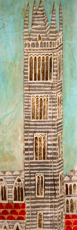 SENSI ARTE, Torre, mista su tavola, cm 75 x 100