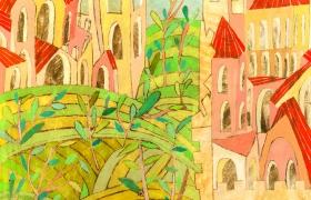 SENSI ARTE _Di mura olivi e colline 2, cm 100 x 100, CCCM_141