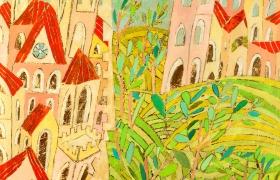 SENSI ARTE_Di mura olivi e colline 1, mista su tavola, cm 100 x 100, CCCM_140