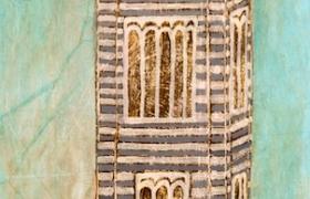SENSI ARTE_ Torre, mista su tavola, cm 75x100
