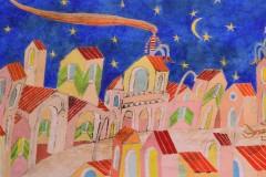 SENSI ARTE_Si sta a veglia, mista su tavola, cm 140 x 70_CCCM_148
