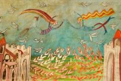 SENSI ARTE, Storni, mista su tavola, cm 150 x 70_CCCM_146