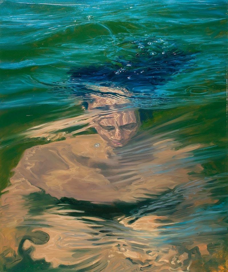 SENSI ARTE, Overfloating XV, olio su tela, cm 121 x 100