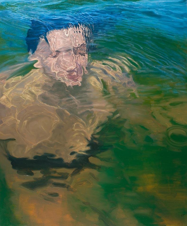 SENSI ARTE, Overfloating XX, olio su tela, cm 120 x 100