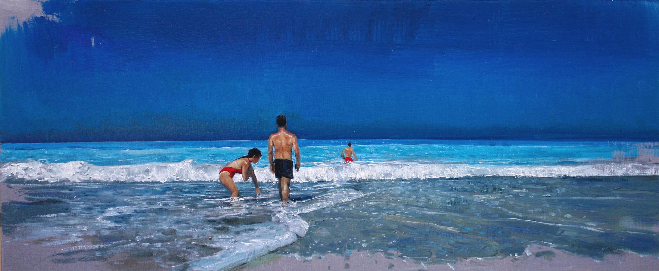 SENSI ARTE, Distant, Echo,  trittico, olio su tavola, cm  70 x 29, NNNM_29