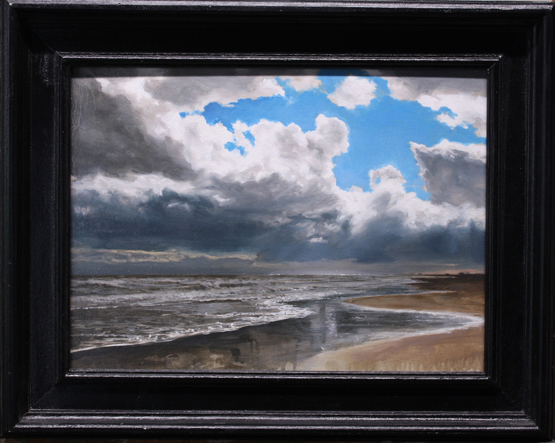 SENSI ARTE, Silver sea, olio su tavola, cm 40 x 30 , NNNM_32