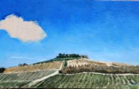 SENSI ARTE, Dialogue, olio su tavola, cm 19 x 52