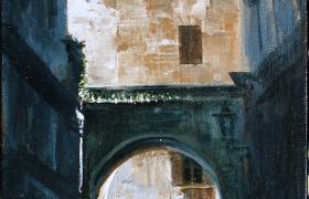 SENSI ARTE, Point of view, olio su tavola, cm 20 x 45