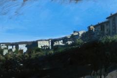 SENSI ARTE, Colle, olio su tavola, cm 71 x 23