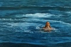 SENSI ARTE, Open sea, olio su tela, cm 38 x 18, NNNM_23