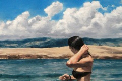 SENSI ARTE, A summer song,  trittico, olio su tela, cm 450 x 35, NNNM_28