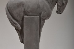 SENSI ARTE, Black Knight, semirefrattario, cm 43 x 33 x 9