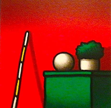 SENSI ARTE, Mobile verde, serigrafia su carta, cm 30 x 30_STFT_169