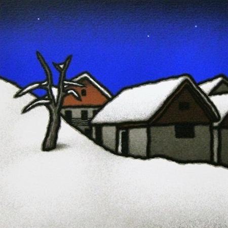 SENSI ARTE, Seconda neve, serigrafia su carta, cm 30 x 30_STFT_478