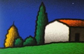 SENSI ARTE, Casalino, serigrafia su carta, cm 30 x 30_STFT_502