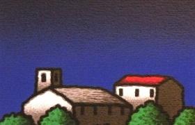 Casali Montaione, serigrafia su carta, cm 30 x 30