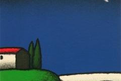 SENSI ARTE, Faro e cespuglio, serigrafia su carta, cm 30 x 30_STFT_568