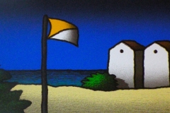 SENSI ARTE, Spiaggia e bandiera, serigrafia su carta, cm 140 x 50_STFT_504