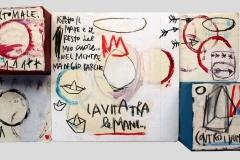 SENSI ARTE, La vita tra le mani, assemblaggio, cm 36 x 28 x 11