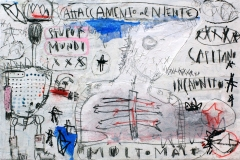 SENSI ARTE, Stupor mundi,  mista su tela, cm 60 x 40